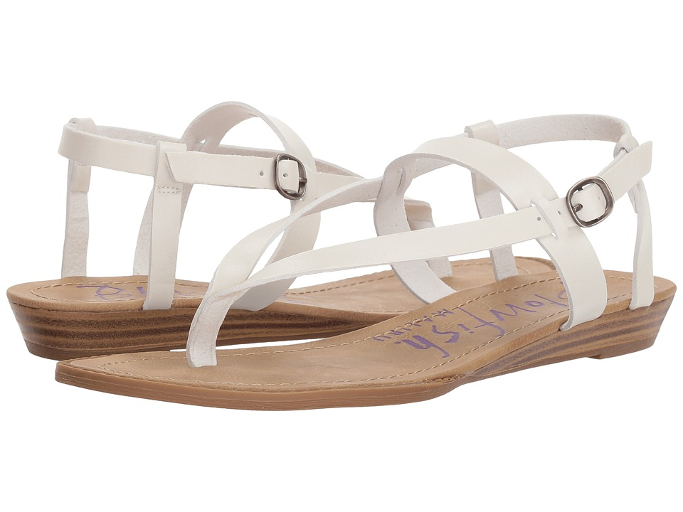 Blowfish - Berg (Pearl White Dyecut PU) Womens Sandals