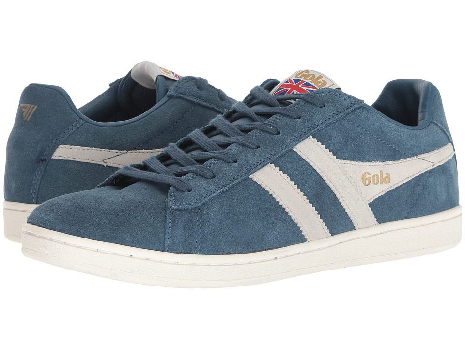 Gola - Equipe Suede (Baltic/Off-White) Boys Shoes
