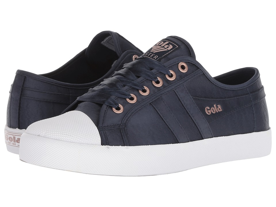 Gola Coaster Satin (Navy/White) Women's Shoes