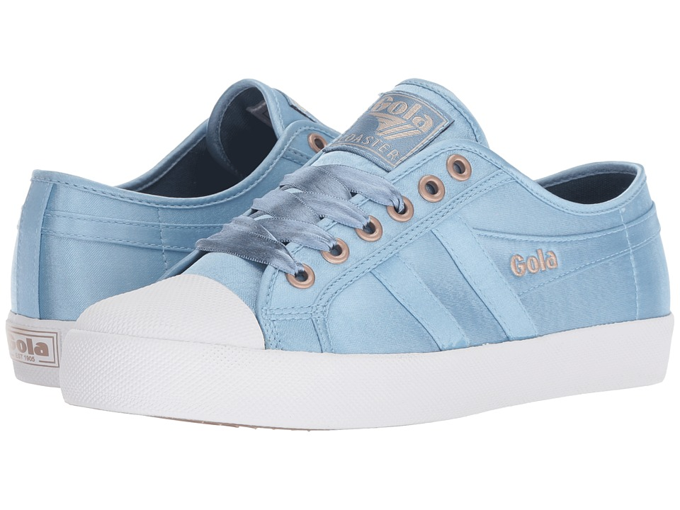 Gola Coaster Satin (Indian Teal/White) Women's Shoes