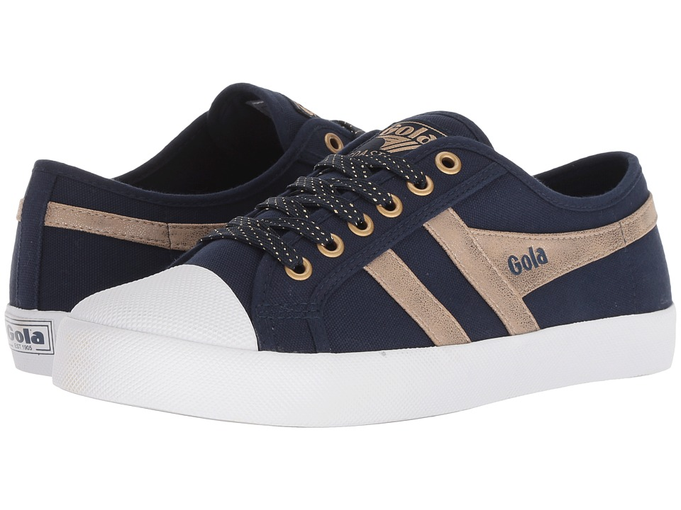 Gola Coaster Mirror (Navy/Gold) Women's Shoes