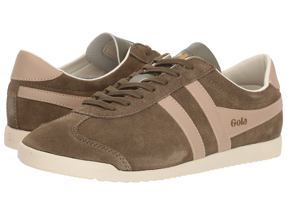 Gola Bullet Suede (Khaki/Blush Pink) Women's Shoes