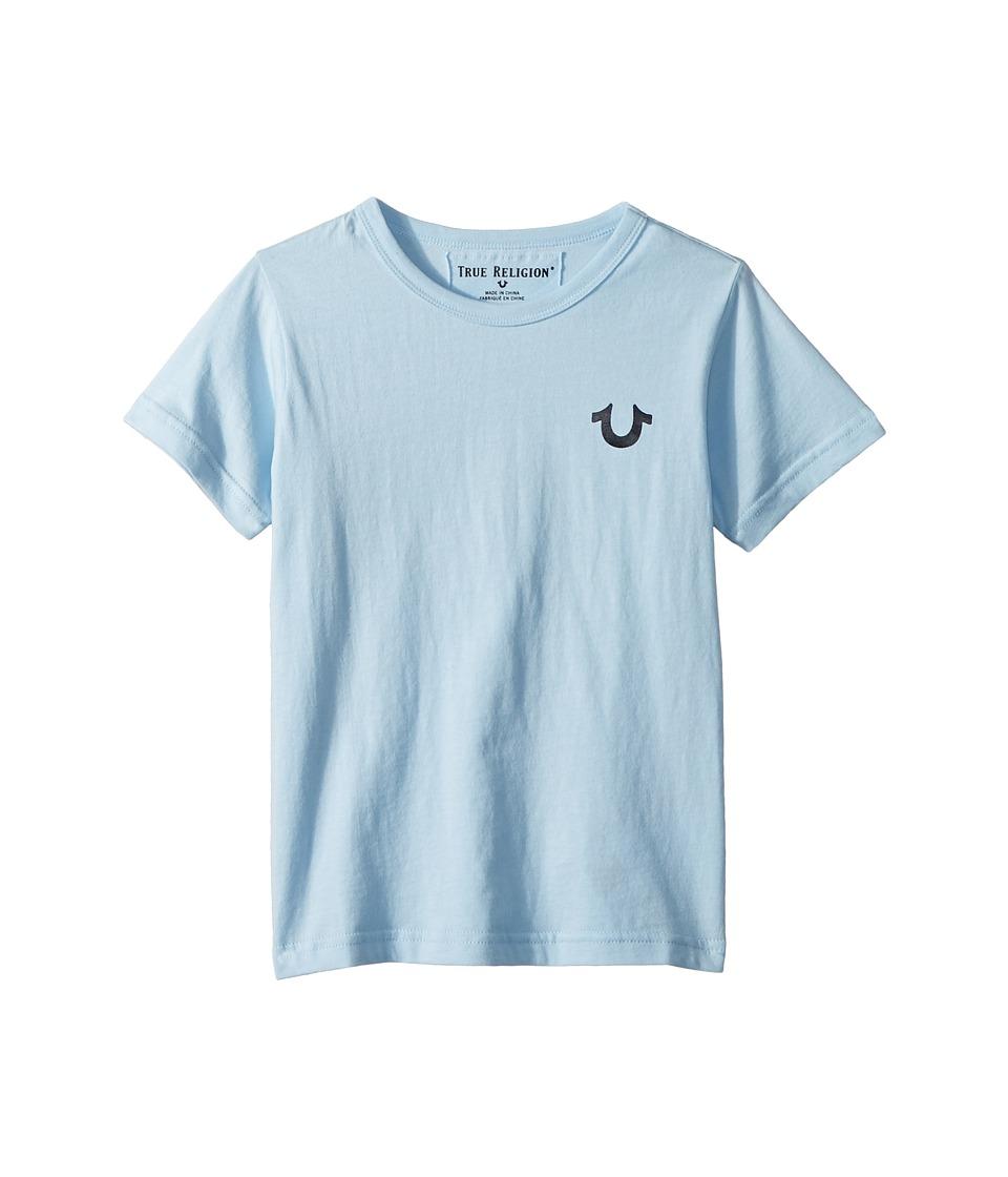 True Religion Kids - Branded Logo Tee (Toddler/Little Kids) (Light Blue) Boys T Shirt