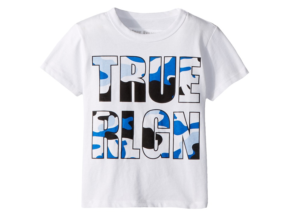 True Religion Kids - Camo Logo Tee (Toddler/Little Kids) (White) Boys T Shirt