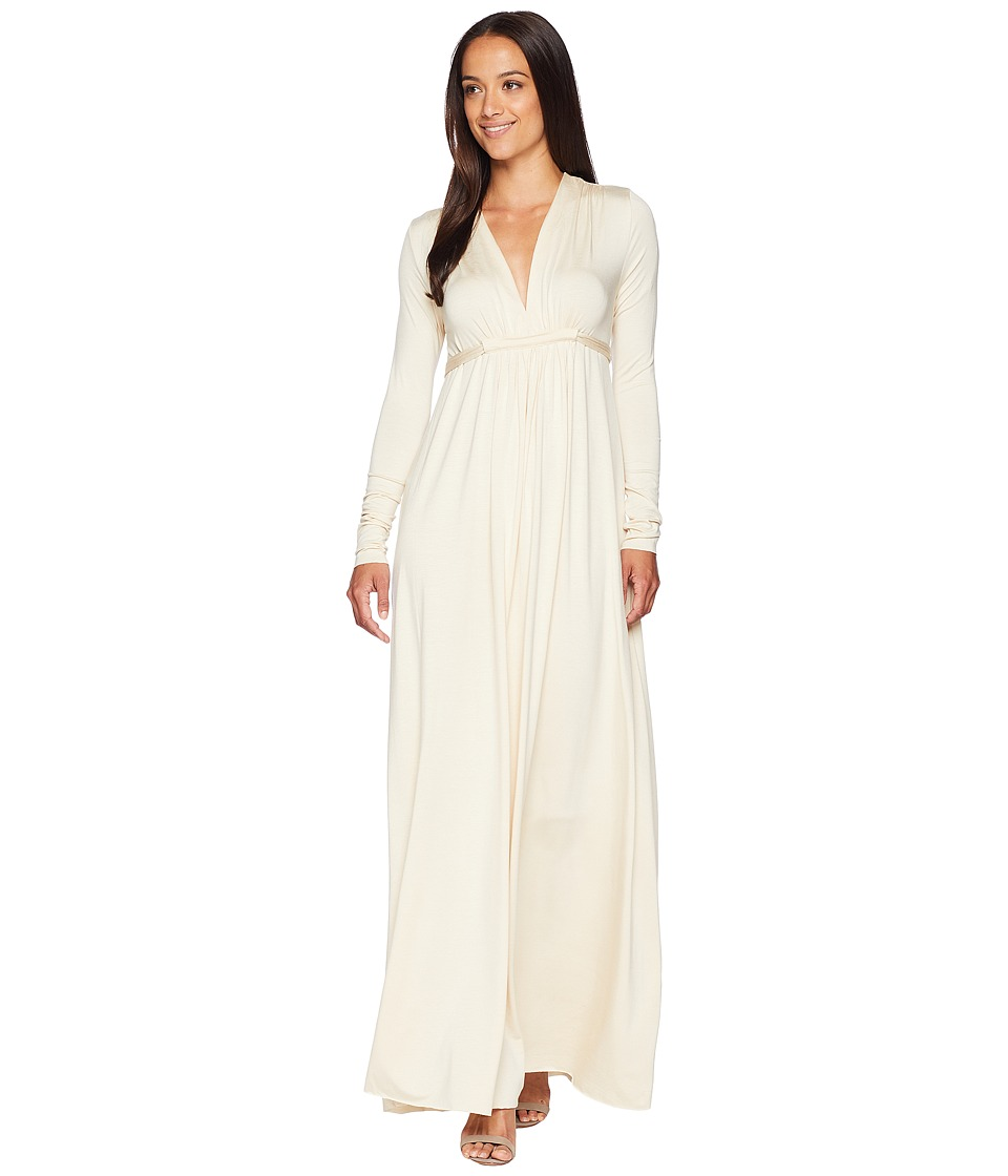 Rachel Pally - Long Sleeve Full Length Caftan (Cream) Womens Dress