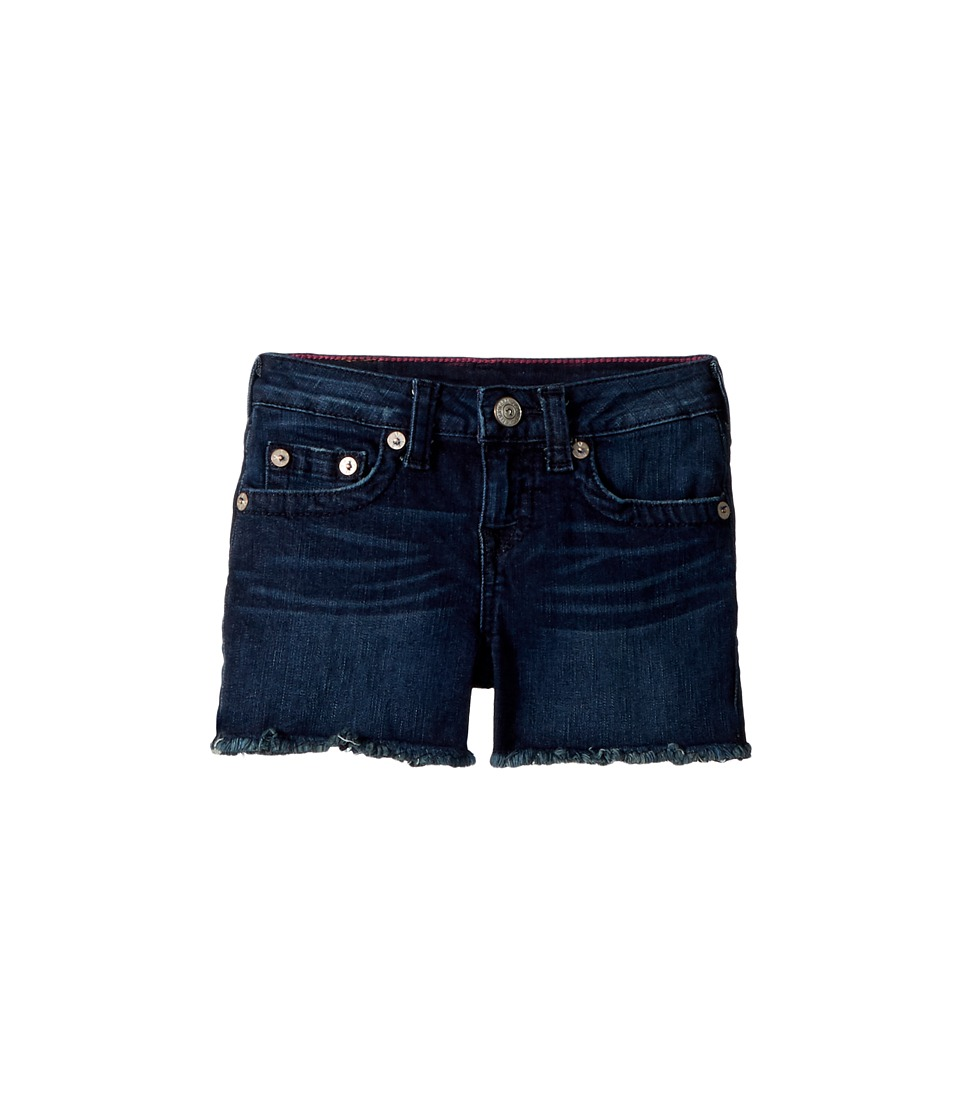 True Religion Kids - Joey Raw Shorts in Ocean Blue (Big Kids) (Ocean Blue) Girls Shorts