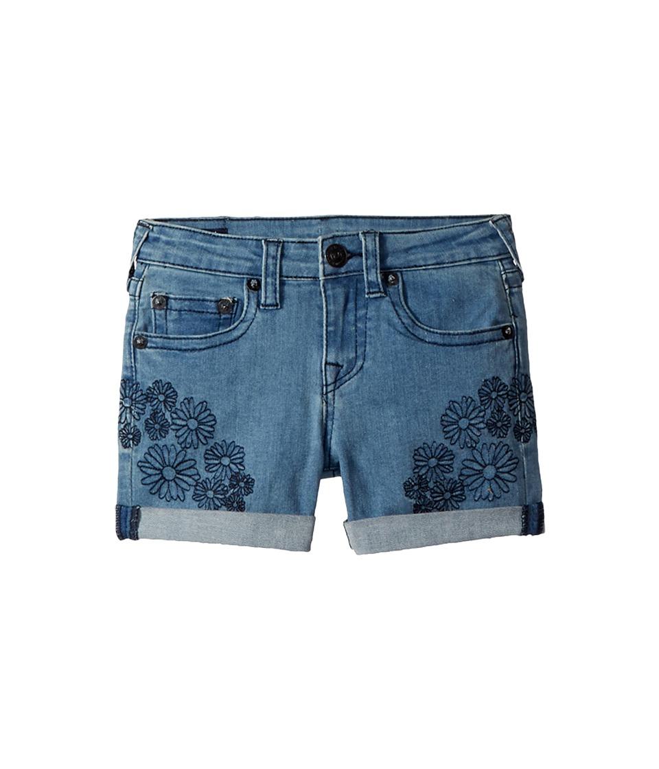 True Religion Kids - Bobby Embroidered in Daisy Blue (Big Kids) (Daisy Blue) Girls Shorts