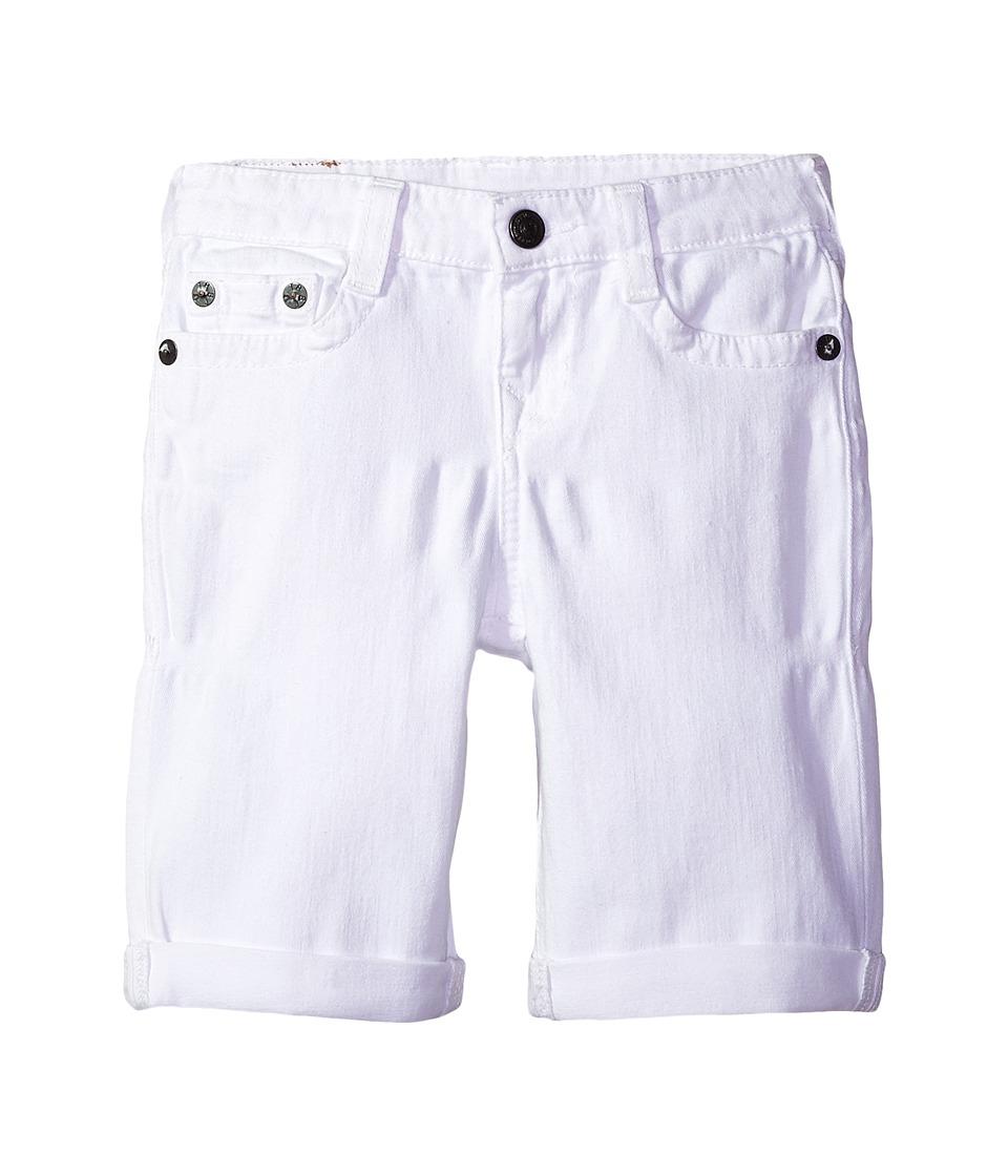 True Religion Kids - Geno Shorts (Big Kids) (White) Boys Shorts