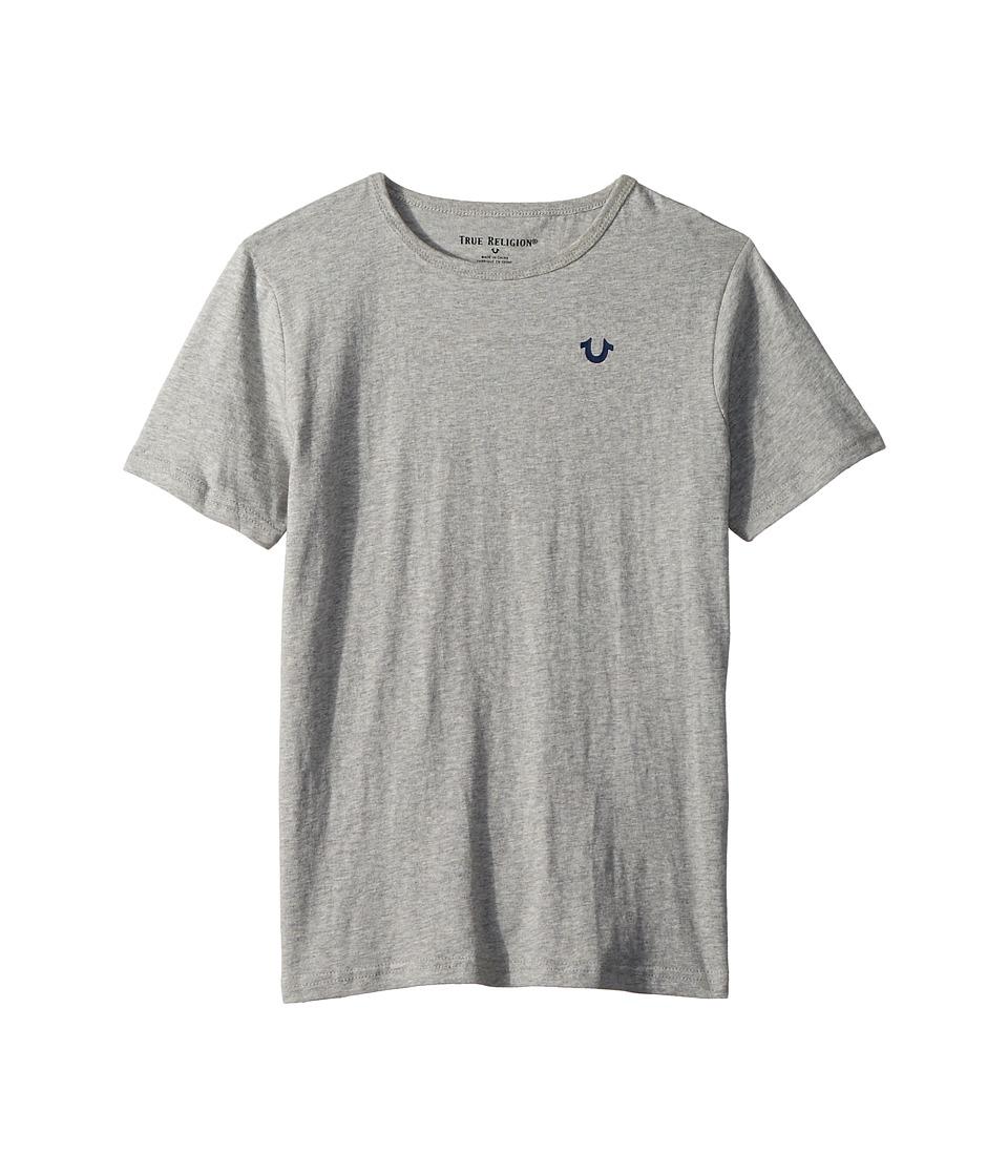 True Religion Kids - Branded Logo T-Shirt (Big Kids) (Heather Grey) Boys T Shirt