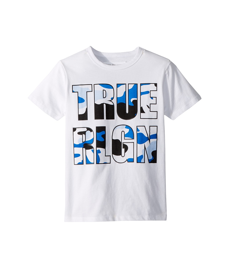 True Religion Kids - Camo Logo Tee (Big Kids) (White) Boys T Shirt