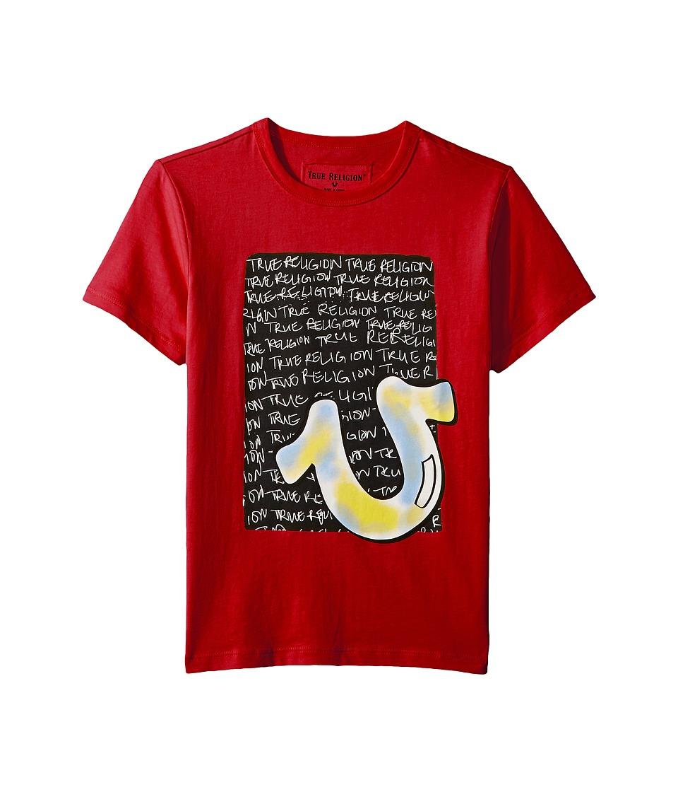 True Religion Kids - Color HS Tee (Big Kids) (Bright Red) Boys T Shirt