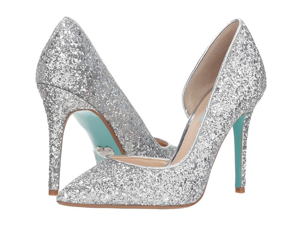 Blue by Betsey Johnson Sally (Silver) High Heels