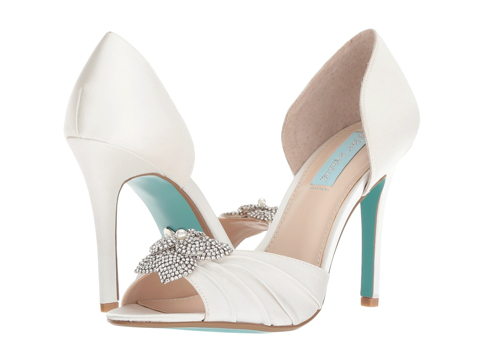 Blue by Betsey Johnson Briar (Ivory Satin) High Heels