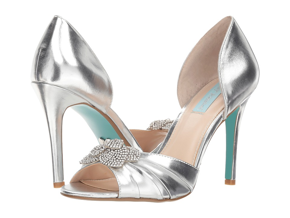 Blue by Betsey Johnson Briar (Silver Metallic) High Heels
