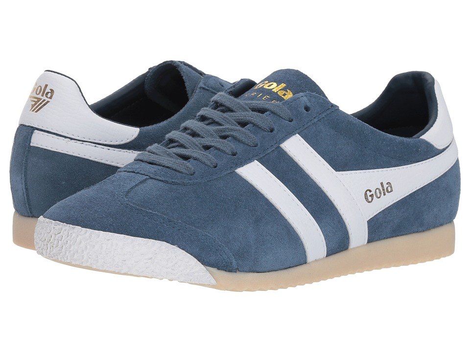 Gola Harrier 50 Suede (Baltic/White) Women's Shoes