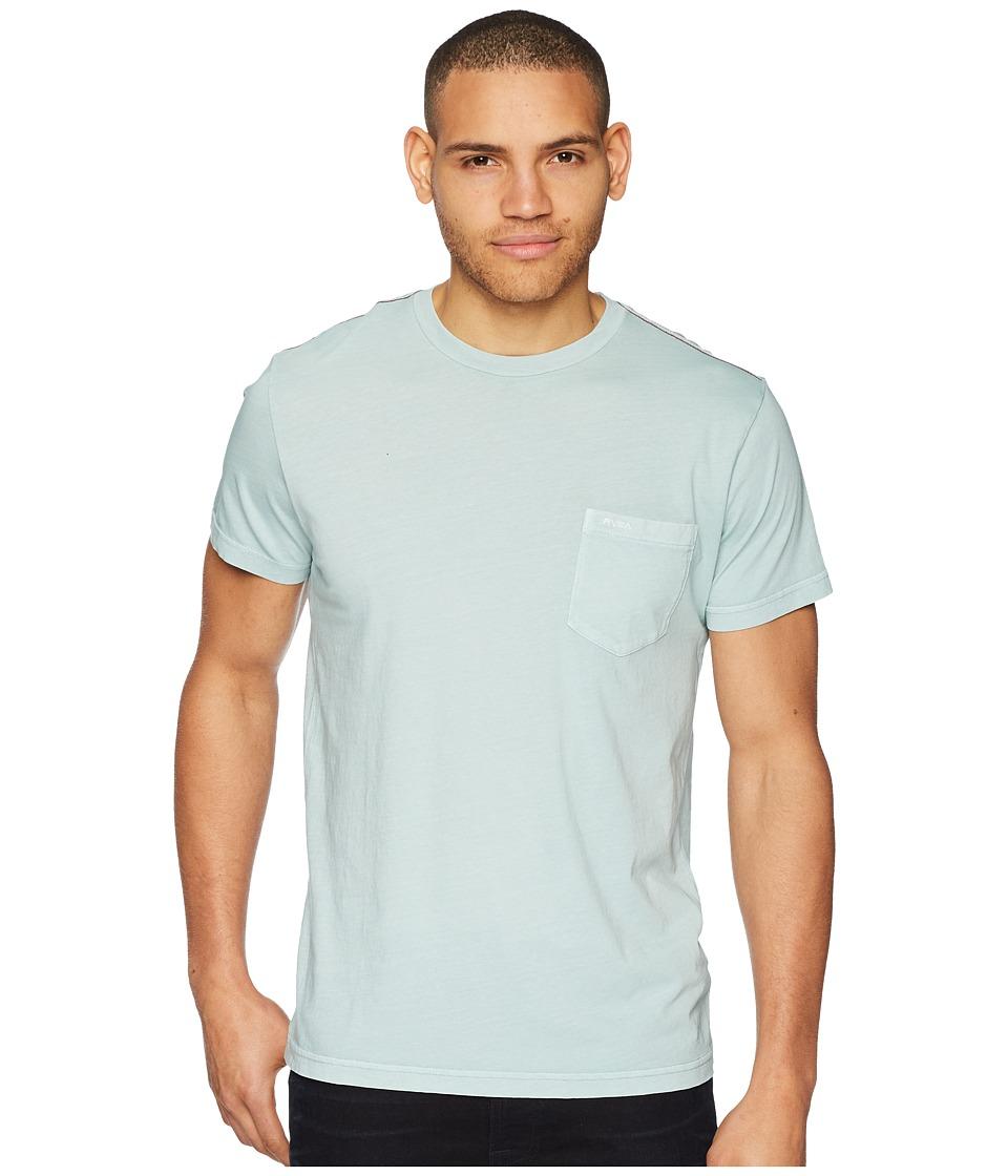 RVCA PTC 2 Pigment Knit Tee (Grey Mist) Men's T Shirt