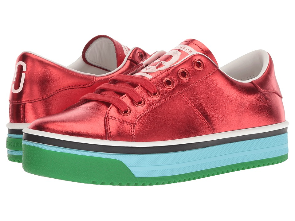 Marc Jacobs Empire Multicolor Sole Sneaker (Red Multi) Women's Shoes