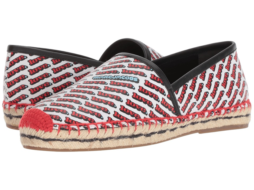 Marc Jacobs Love Sienna Flat Espadrille (White Multi) Women's Shoes