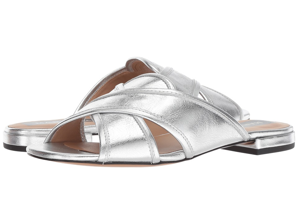 Marc Jacobs Aurora Flat Sandal (Silver) Women's Shoes