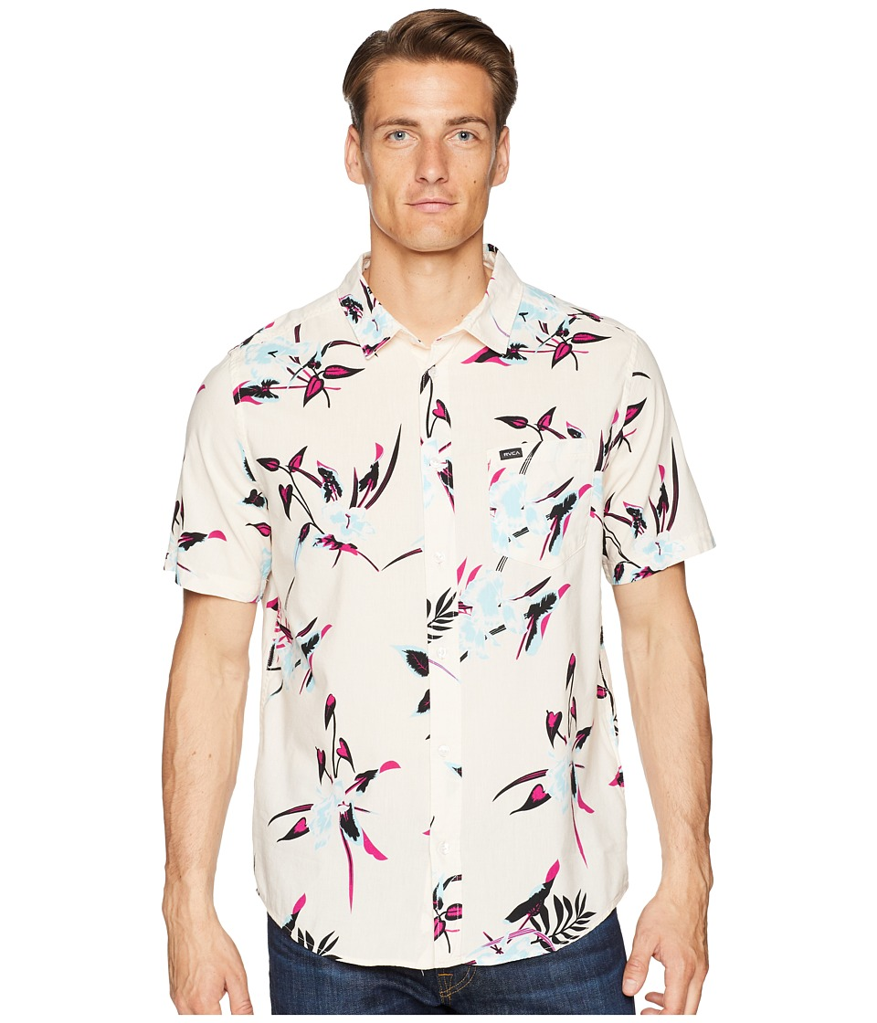 RVCA - Moonflower Short Sleeve (Rosewater) Mens Clothing