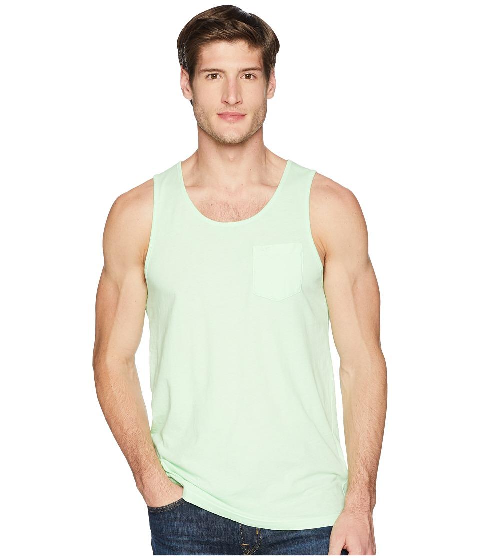 RVCA - PTC Pigment Tank Top (Patina Green) Mens Clothing