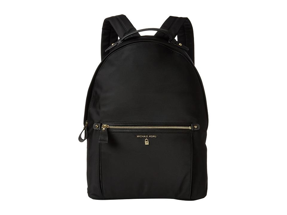 MICHAEL Michael Kors - Nylon Kelsey Large Backpack (Black) Backpack Bags