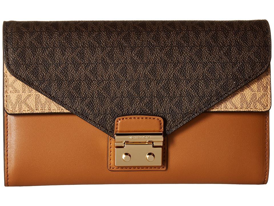 Michael Kors Large Envelope Wallet On A Chain (Acorn/Brow...