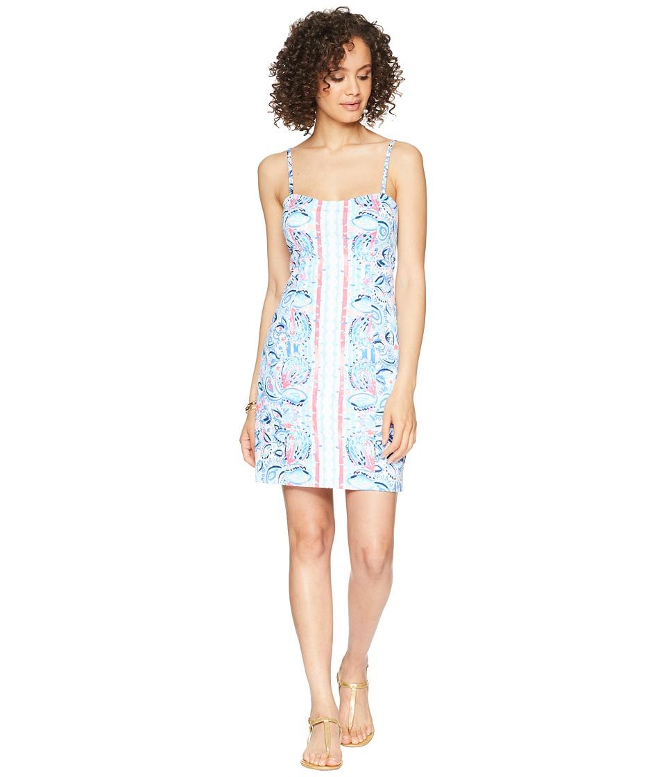 Lilly Pulitzer Shelli Stretch Dress (Resort White Stripes...