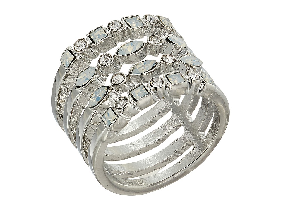 GUESS - Look of Multi Stack Ring (Silver/Crystal/White Opal) Ring