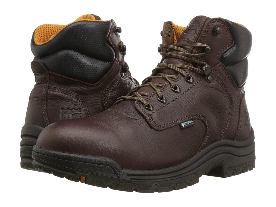 Timberland PRO - Titan 6 Soft Toe Waterproof (Dark Mocha) Mens Waterproof Boots