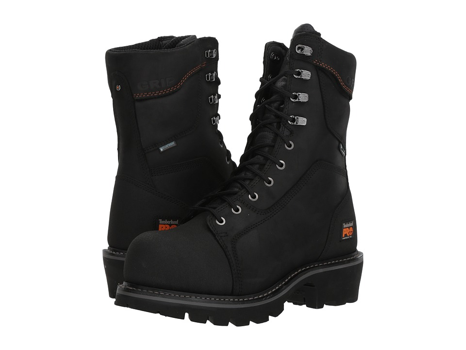 Timberland PRO - Ripsaw Logger 9 Composite Toe Puncture Resistant Waterproof (Black) Mens Waterproof Boots