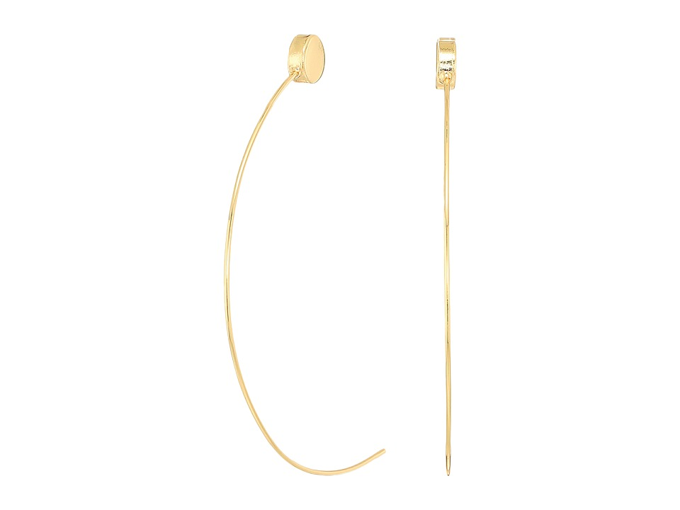 GUESS - C Wire Half Hoop with Ball End Earrings (Gold) Earring