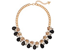 GUESS GUESS Floral Motif Collar Necklace with Stone Accents