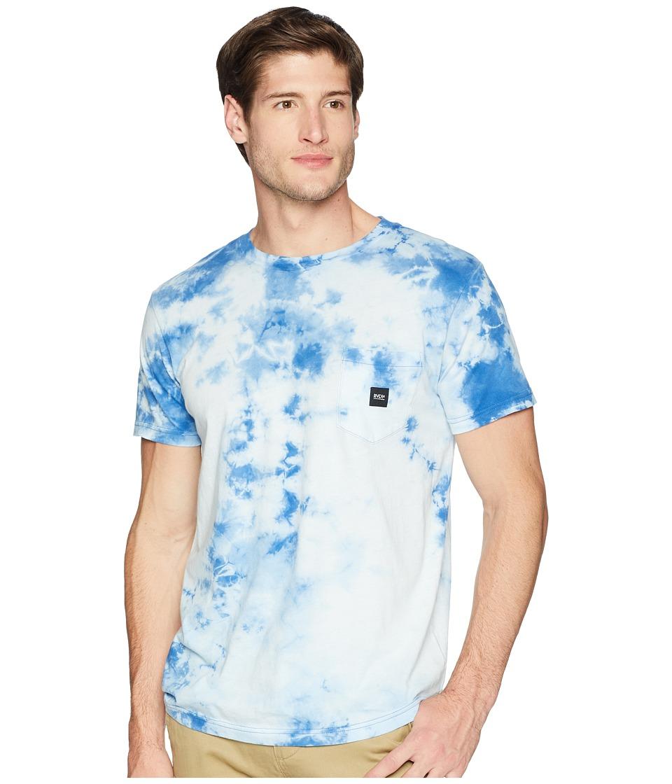RVCA - Destroy Short Sleeve Knit (Cobalt) Mens Clothing