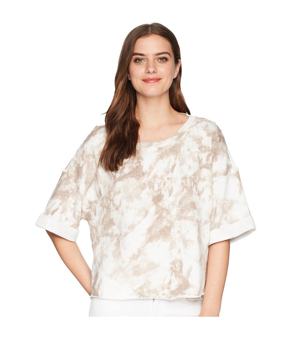 Splendid Cropped Short Sleeve Sweatshirt (Sandstone) Women