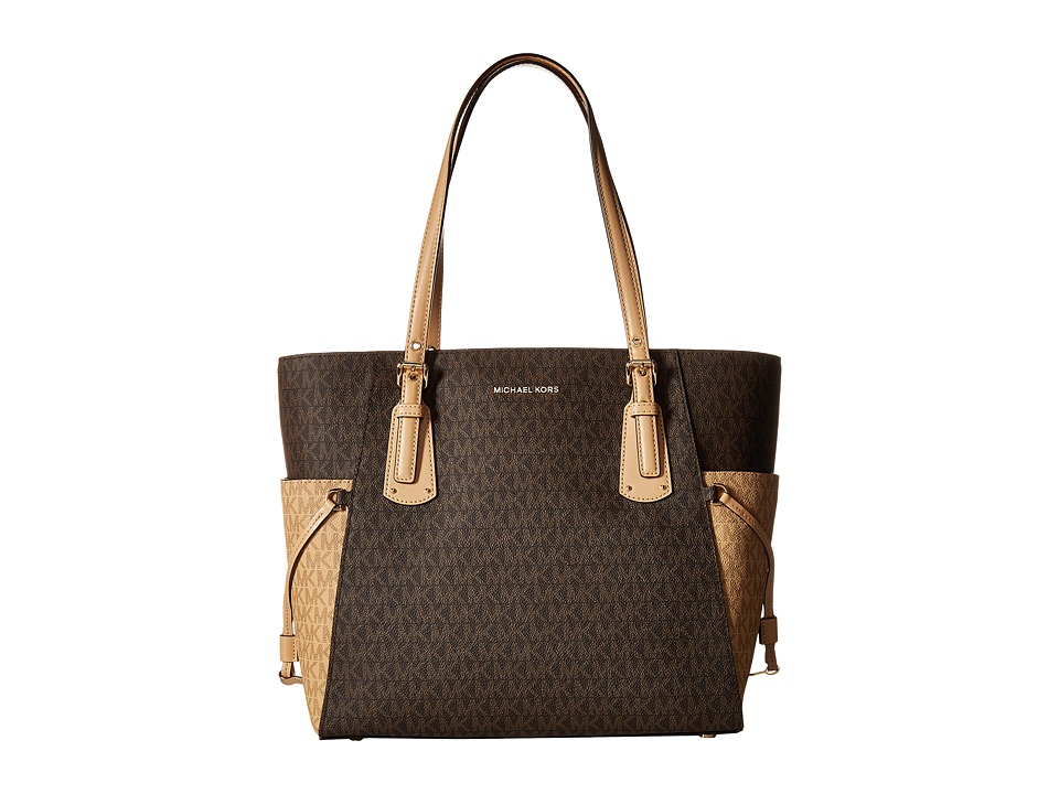 Michael Kors Voyager East/West Signature Tote (Brown/Butt...