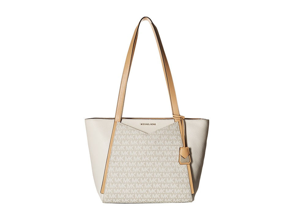 Michael Kors Whitney Small Top Zip Tote (Natural/Light Cr...
