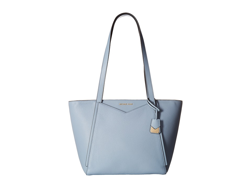 Michael Kors Whitney Small Top Zip Tote (Pale Blue) Tote ...