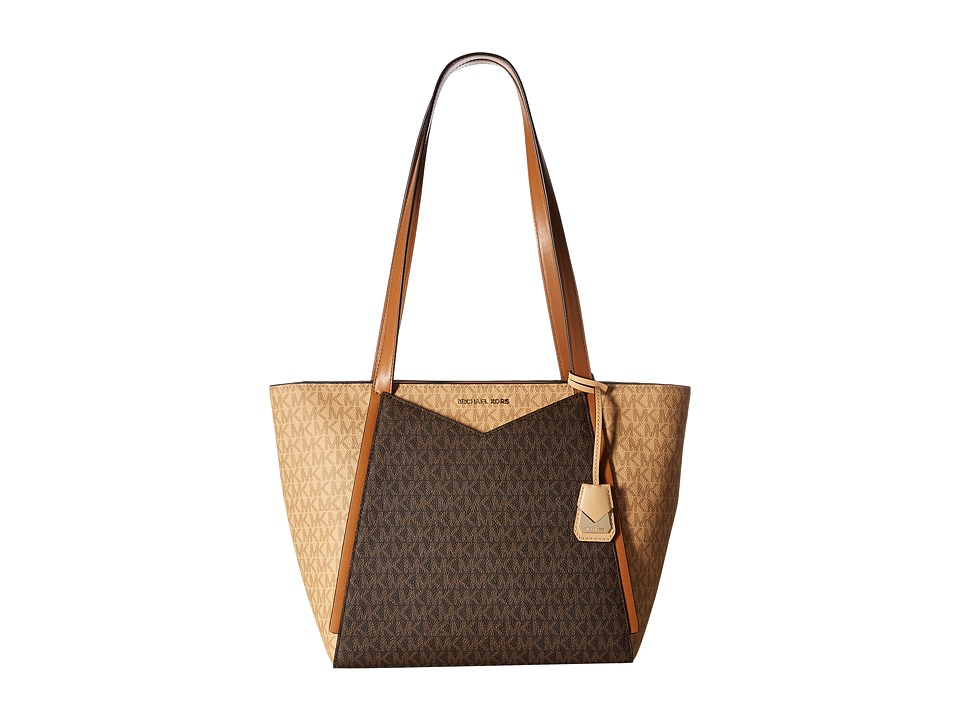 Michael Kors Whitney Small Top Zip Tote (Butternut/Brown/...