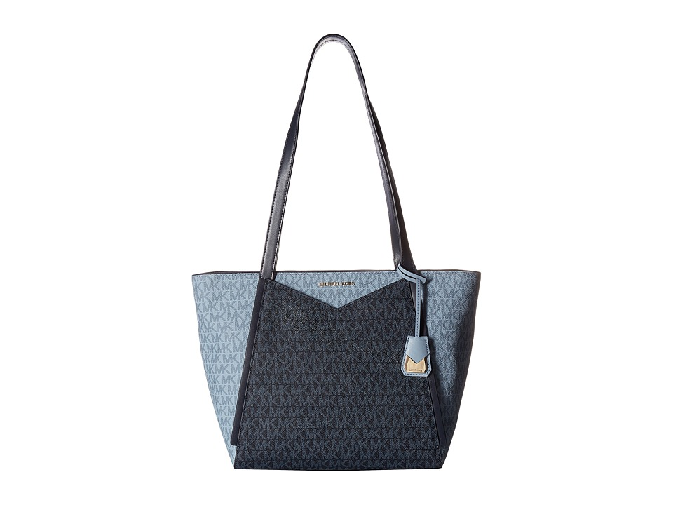 Michael Kors Whitney Small Top Zip Tote (Admiral/Pale Blu...