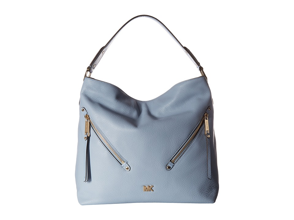 Michael Kors Evie Large Hobo Pale Blue Handbags