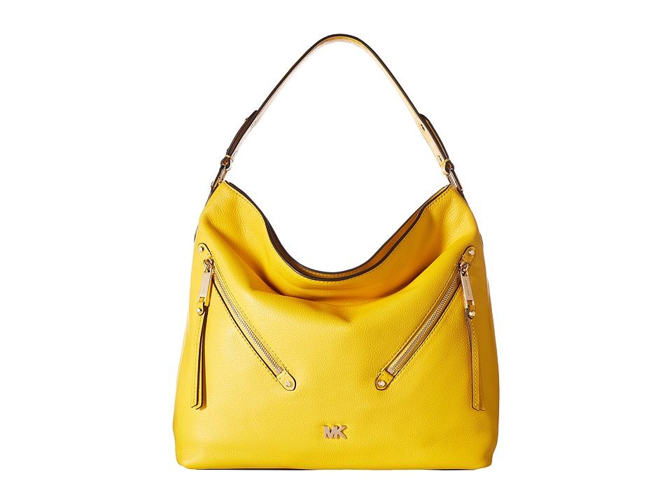 Michael Kors Evie Large Hobo Sunflower Handbags