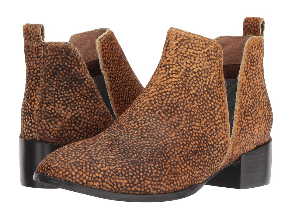 Seychelles Offstage Bootie (Brown Spotted Pony) Women's Pull-on Boots