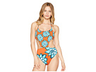 THE BIKINI LAB THE BIKINI LAB Desert Petals High Leg One-Piece Swimsuit