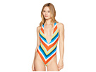 THE BIKINI LAB Palm Springs Plunge One-Piece Swimsuit