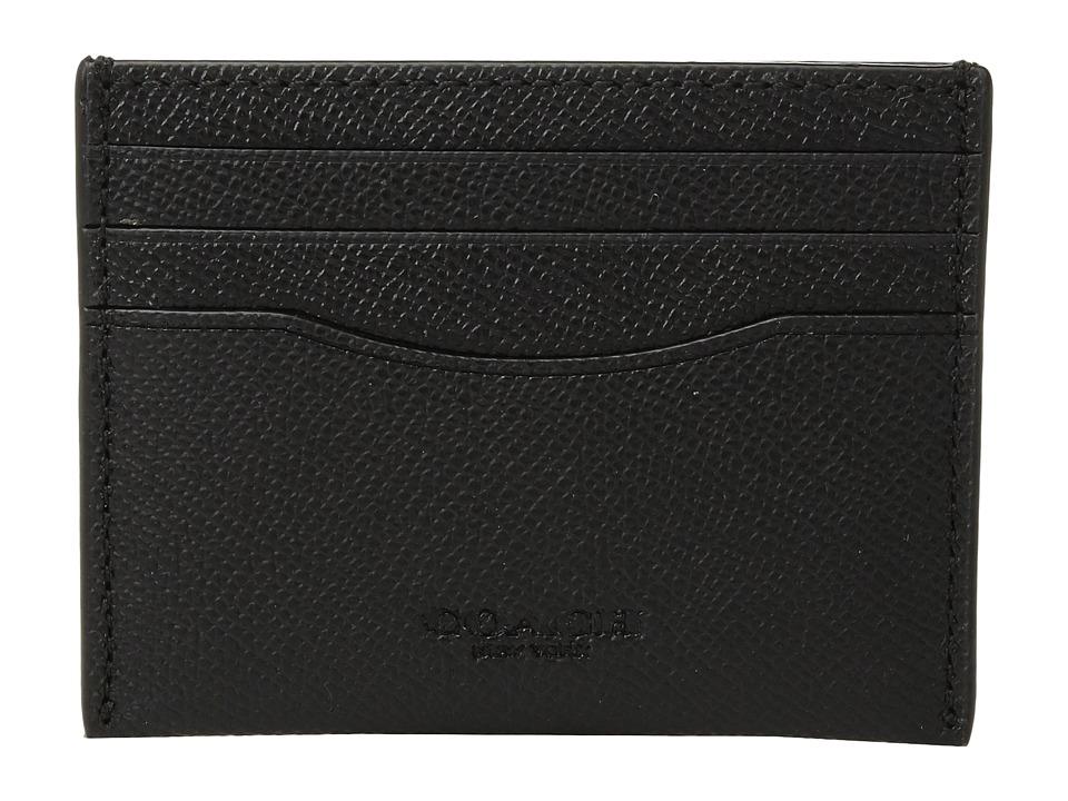 COACH - Card Case Crossgrain (Black) Bags