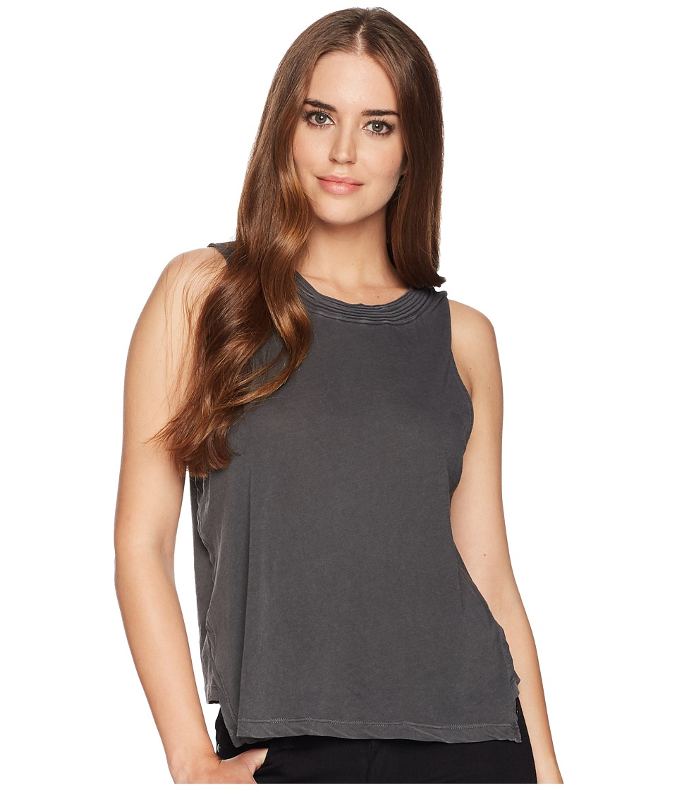 Splendid - Vintage Whisper Asymmetrical Hem Tank (Lead) Womens Sleeveless