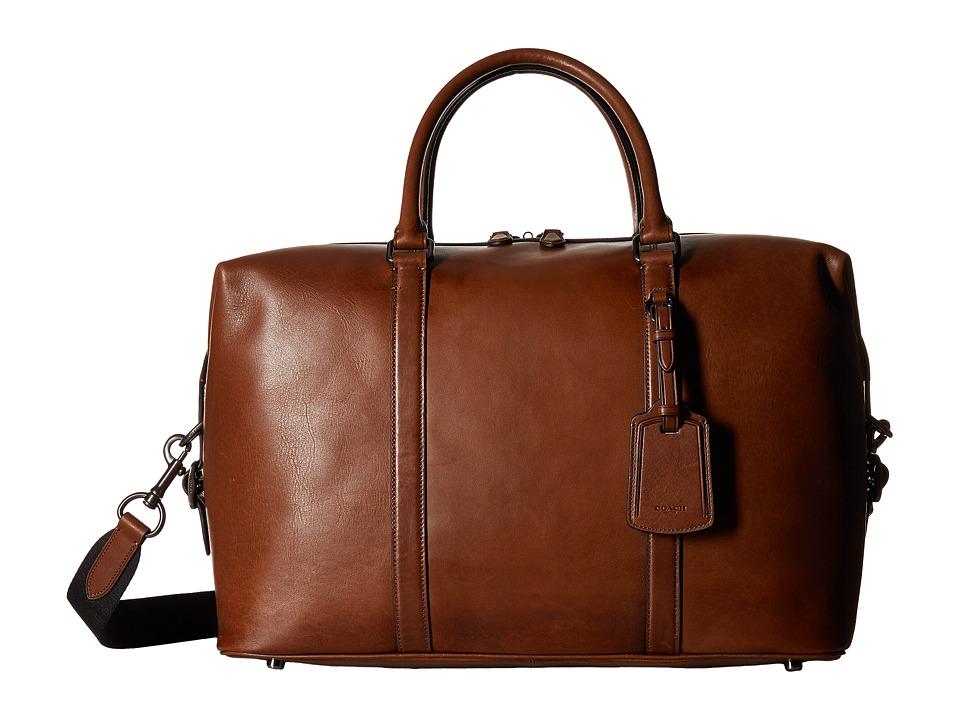 COACH - Explorer Bag in Sport Calf Leather (QB/Dark Saddle) Bags