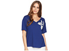 LAUREN Ralph Lauren LAUREN Ralph Lauren Lace Embroidered Jersey Top