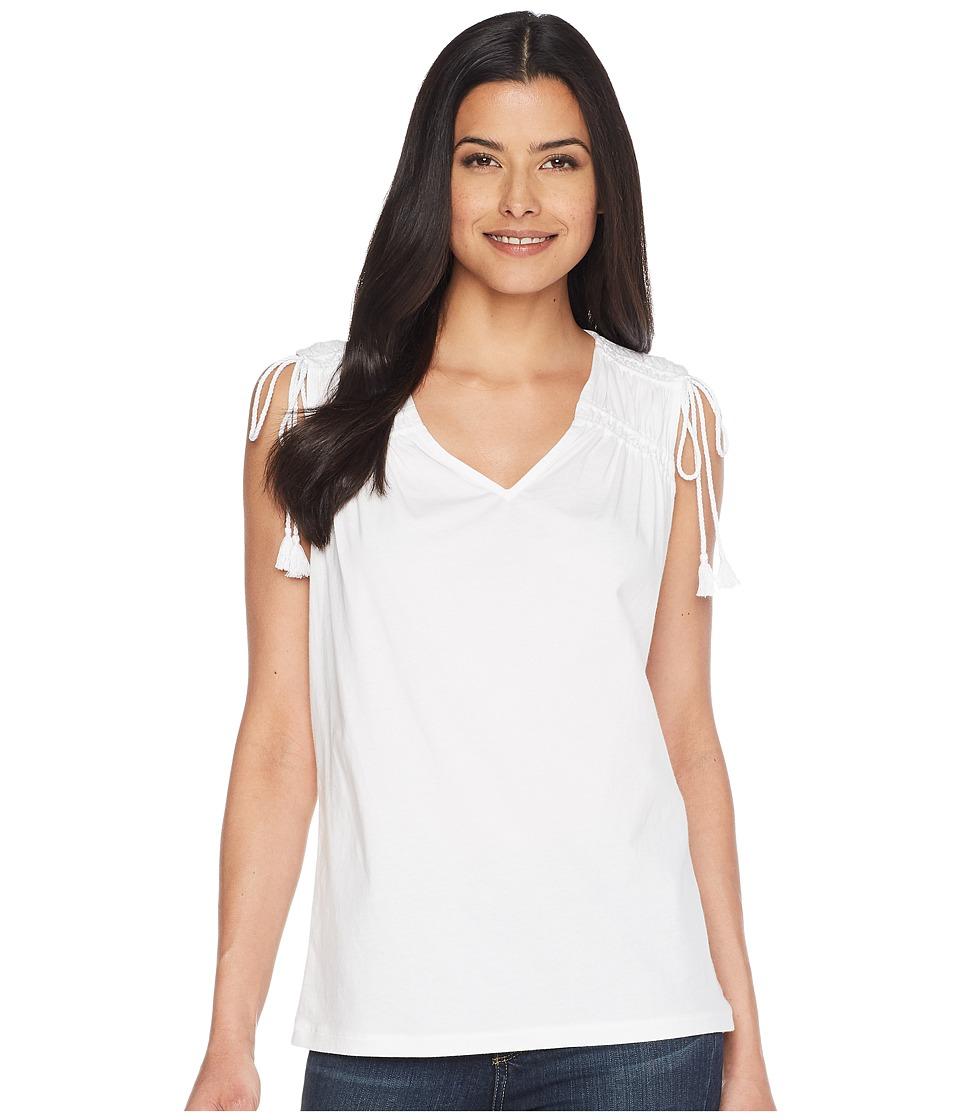LAUREN Ralph Lauren - Ruched Shoulder Tank Top (Soft White) Womens Sleeveless
